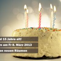 Am 8. März 2013 sind unsere Türen offen und wir feiern!