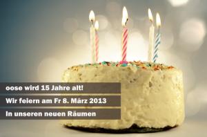 oose wird 15 Jahre alt: wir feiern