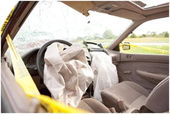 Ausgelöster Airbag