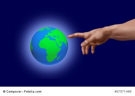 Die Erschaffung ( Adams) der Erde, von Michelongelo